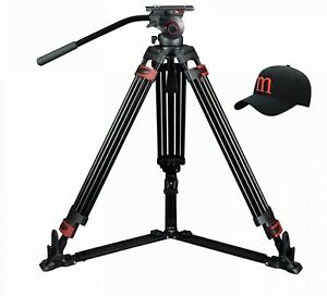 Camera-Tripod-Professional-Video-Stand-For-Camcorder-Aluminum-Heavy-Fluid-Head