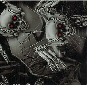 HYDROGRAPHIC WATER TRANSFER HYDRODIPPING FILM HYDRO DIP SPIDER SKULLS 1SQ