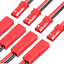 JST-BEC-Stecker-Buchse-10cm-15cm-20cm-30cm-Kabel-Lipo-Akku-20AWG-2-4-5-10-15-20 Indexbild 1