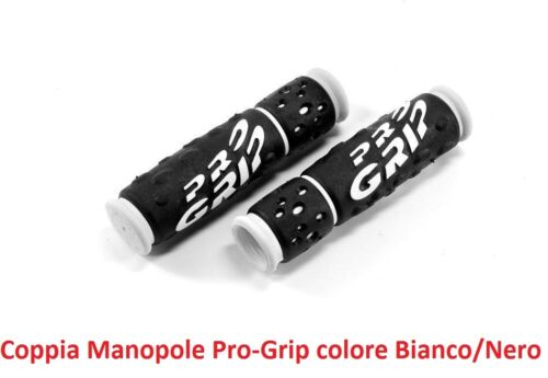 Coppia Manopole Pro-Grip in Gel col Nero//Bianco per bici 20-24-26 BMX Freestyle