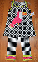 Girls Emily Rose White Black Tu Can Shirt 2 Piece Outfit Set Size 5