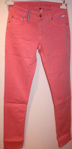 Escales Paris Damen Baumwoll Hose Jeans Rose Pantalon 5 P Rose des mers