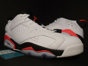 newest f8a6e f20c4 Details about NIKE AIR JORDAN VI 6 RETRO LOW WHITE INFRARED 23 RED BLACK  BRED 304401-123 12