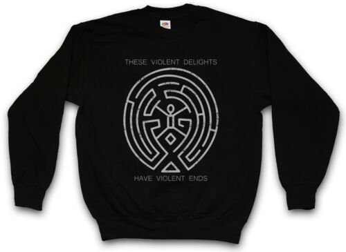 THESE VIOLENT DELIGHTS SWEATSHIRT PULLOVER Westworld Labyrinth Tattoo The Maze