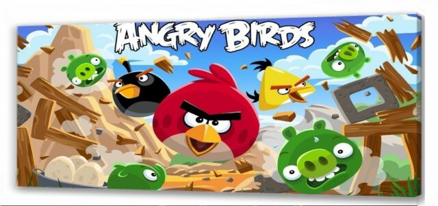 Angry Birds Kids Bedroom Canvas Picture For Sale Ebay