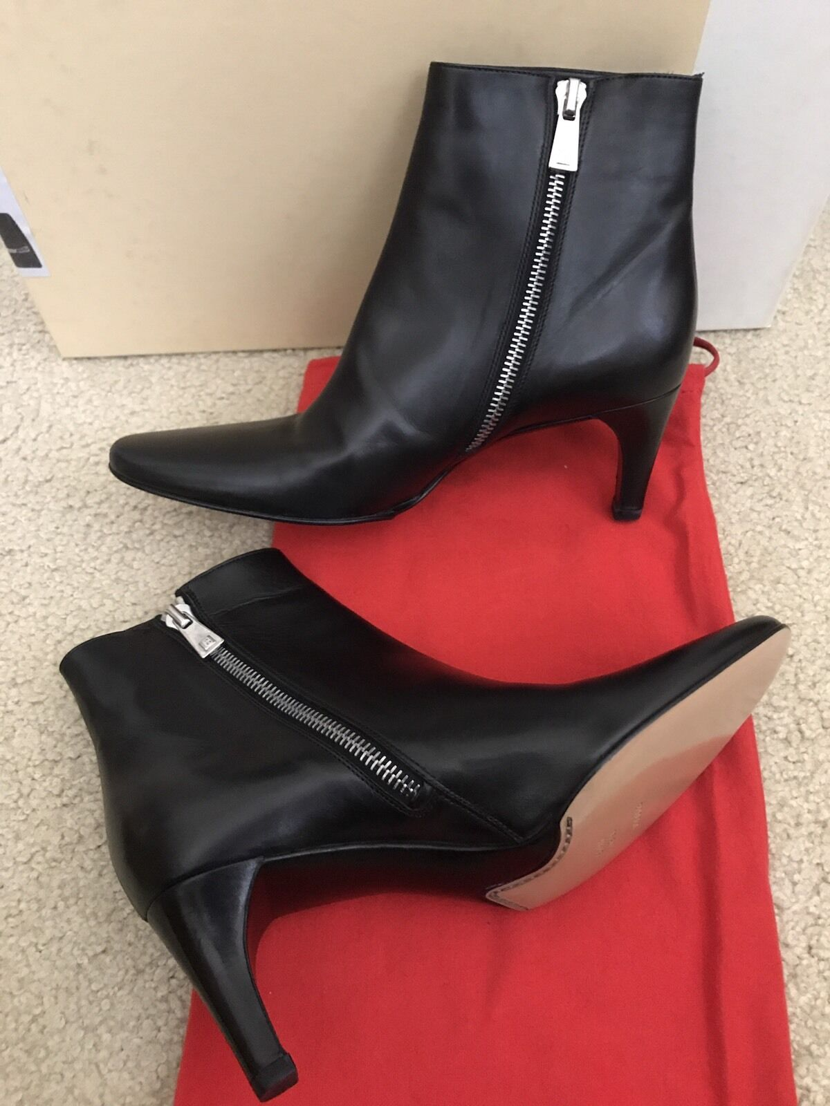 BALLY Black Leather Ankle Boots shoes Sz 35  4.5 New In Box  550