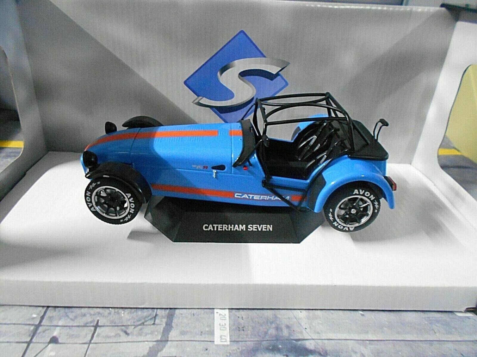 Caterham Seven avademy 2014 Gulf Bleu bleu ROADSTER SOLIDO métal neuf 1 18
