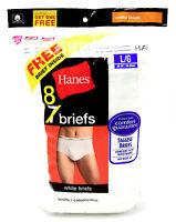 8 White Large L 36-38 Inch Hanes Tagless Comfort Flex Waistband Briefs 90-95 Cm