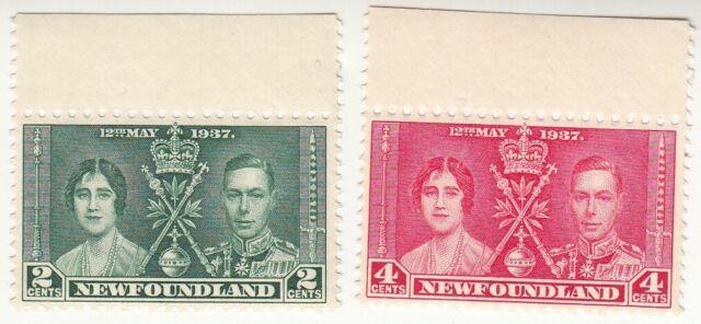 Newfoundland 1937. King George VI Coronation. SC 230-231.MNH