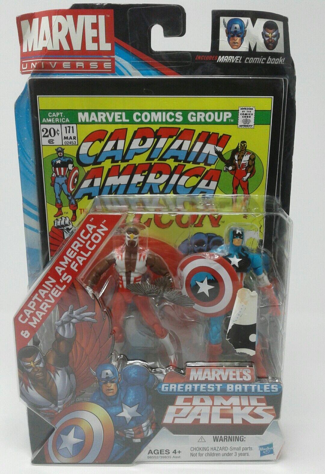 Marvel Univers Captain America & 'S Faucon le Plus Grand Batailles Bd Paquets