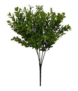 """Soigneux Buis Bush 13"""" ~ 5 Tiges ~ Verdure Soie Mariage Fleurs Décorations En Plastique-afficher Le Titre D'origine"""