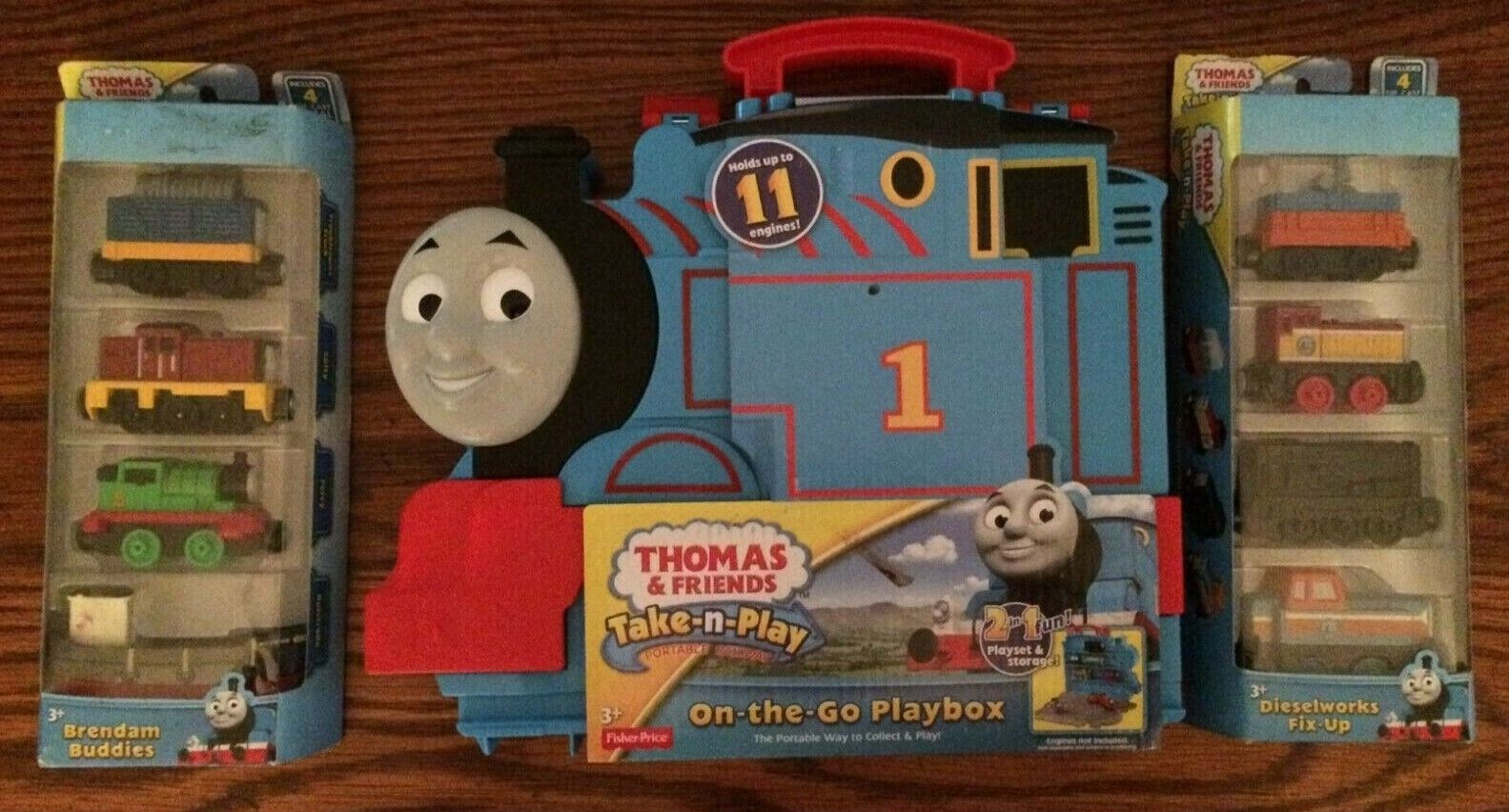 Thomas Take-n-Play On-the-Go-Playbox, Brendam Buddies & Dieselworks Fix-Up NEW
