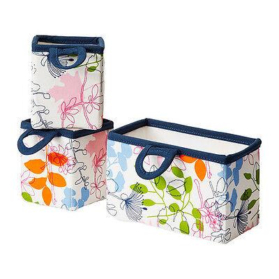 IKEA NOTUDDEN foldable Basket hanging storage box set of 3 home travel organize