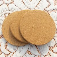 6Pcs Round Plain Cork Coasters Drink Coffee Tea Cup Mat Pad For Home Office Hot