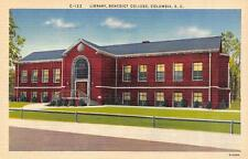 COLUMBIA, SC  South Carolina   BENEDICT COLLEGE-Library   c1940's Linen Postcard