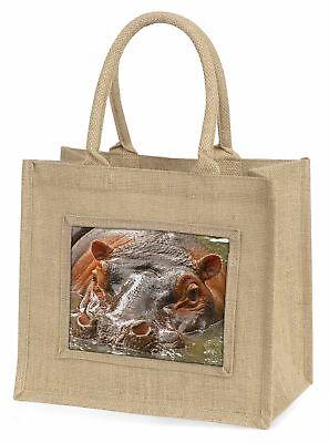 Nilpferd,Nilpferd Große natürliche jute-einkaufstasche Weihnachtsgeschenk