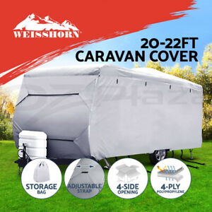 Weisshorn-20-22ft-Caravan-Cover-Campervan-4-Layer-Heavy-Duty-UV-Carry-bag-Covers