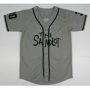 Rodriguez-30-The-Sandlot-Movie-Baseball-Jersey-Button-Down-Gray-All-Stitched