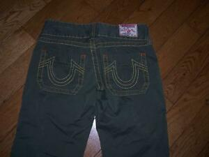 d6fc53f2a TRUE RELIGION SAMMY BIG T MILITARY GREEN CAPRI CROPPED WAIST PANT 27 ...