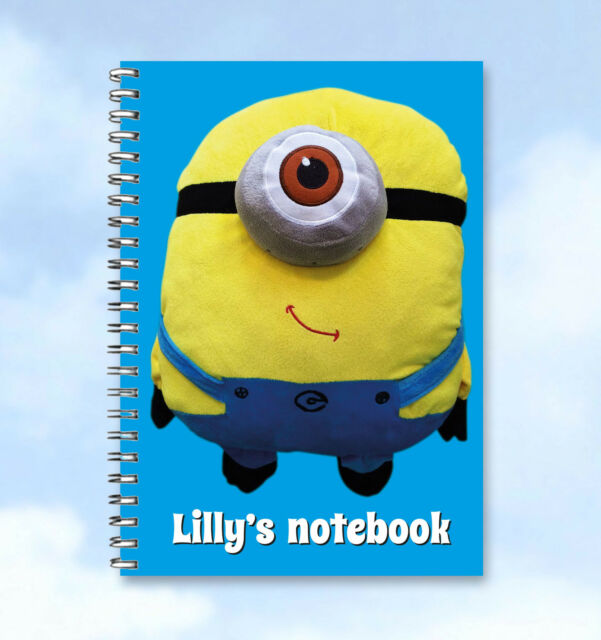 Despicable Me Minions Personalised A6 Notebook -  add any Name/text, buzzinvites