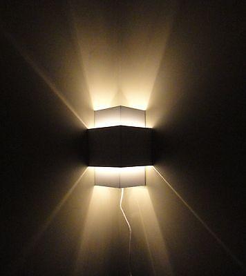 White Plug-In Corner Lamp,Wall Light Sconce