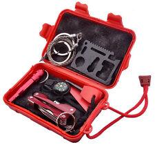 Full pocket survival kit 21 functions outdoor hiking camping trip set case