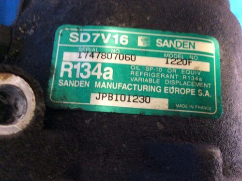 Model# 1220F SANDEN Rover//MG Air Conditioning Compressor Pump Part# JPB101230