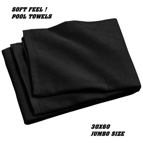 4 jumbo black swimming hotel cabana beach towels pool towel 30x60 soft velour