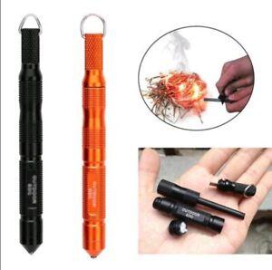 Stahl-Zunder-Feuerstab-Feuerstahl-Feuerstein-Feuerstarter-Kubotan-Magnesium