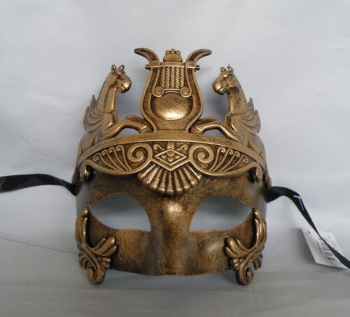 Mens Egyptian//Roman//Venetian Masquerade Gold Face Party Mask *NEW*