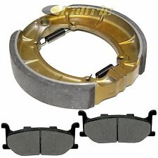 Front Brake Pads & Rear Shoes for Yamaha XVS650A V-Star 650 Classic 1998-2010