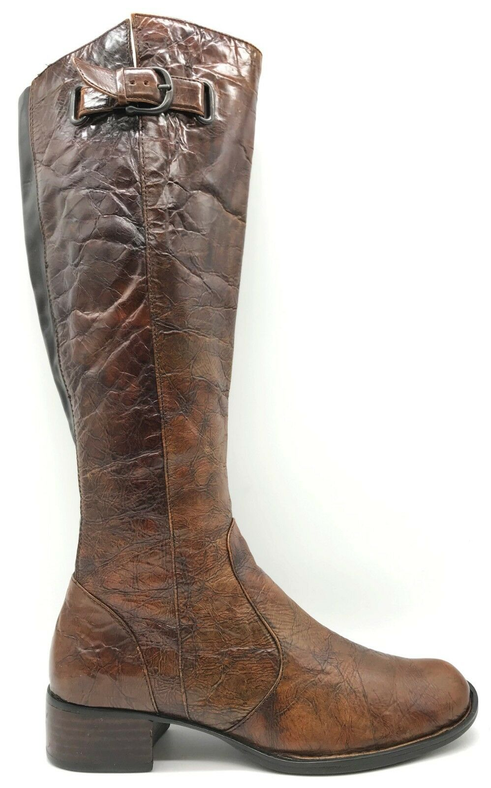 Born Crown Brown Leather Tall Zipper Riding Boots Womens 7.5   38.5