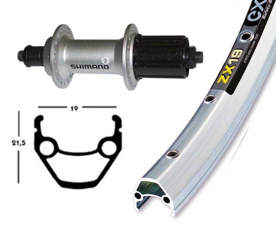 Bike-Parts Bike-Parts Bike-Parts 28″ Hinterrad Exal ZX 19 + Shimano Alivio M430 8-fach (QR) dcc18a