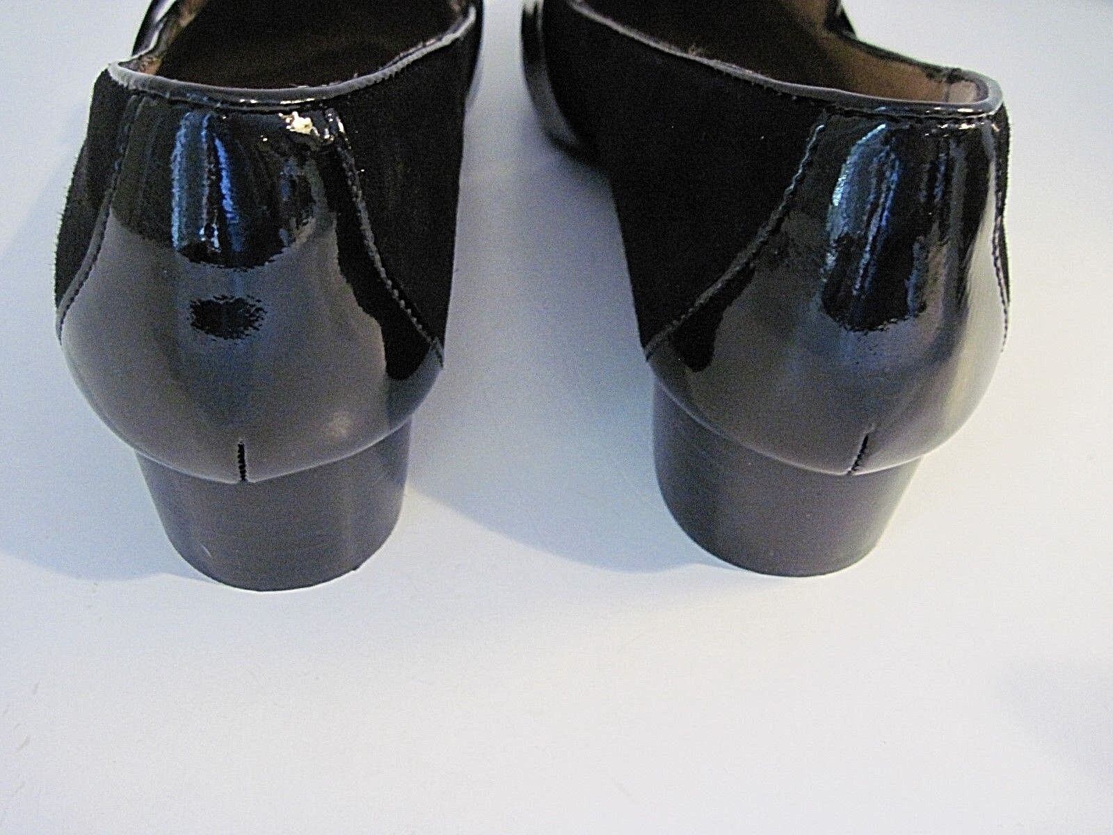 Sofft Nero Suede Patent Front Pelle Cowhair  Front Patent Buckle Slip-On Loafer Size 10M b20ae7