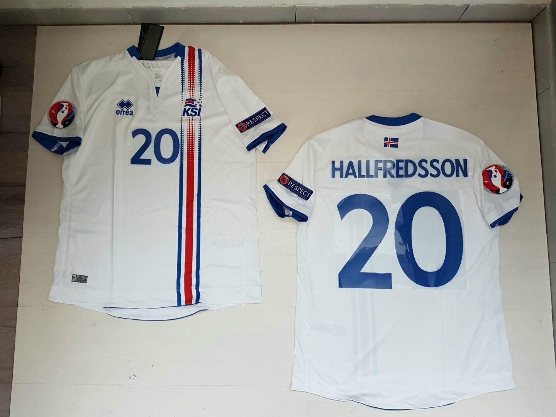 HALLFrojoSSON ISLANDA ICELAND Ísland  MAGLIETTA JERSEY SHIRT EURO 2016 PATCH W