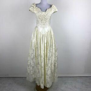 Ivory Fl Dress Wedding Prom Size 4