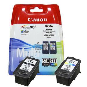 Original-Genuine-Canon-PG510-Black-amp-CL511-Colour-Ink-Cartridge-Twin-Pack
