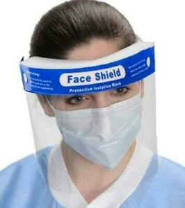 Safety Full Face Shield Guard Protector Mask Clear Head Band Elastic Reusable US