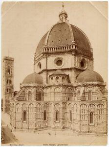 Firenze Cattedrale Foto originale all' albumina 1880c Brogi Florence L885