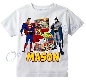 Image Is Loading Superman Vs Batman Comic Superhero Custom T Shirt