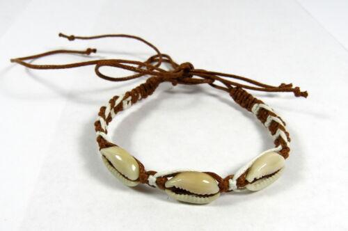 Bracelet Bracelets coquillages surfeur marron-blanc herenarmband Femmes Bracelet NEUF