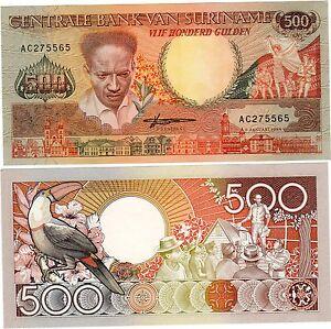 Suriname Surinam Billet 500 Gulden 1988 P135 Toucan Unc Neuf Crn84eyq-07212305-926084913