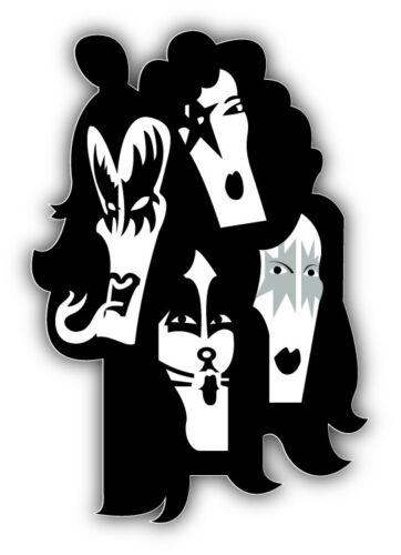 5/'/' or 6/'/' KISS Car Bumper Sticker Decal 3/'/'