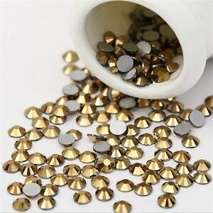 288-720-1440pcs-Aurum-Nail-Art-Rhinestone-Flatback-Glitters-3D-Tips-Decoration