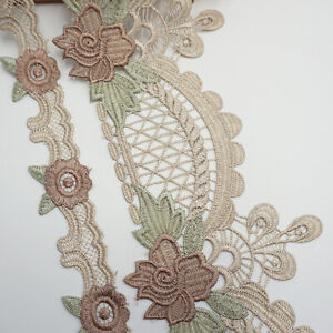 1Yard Embroidery Flower Trim Lace Ribbon Webbing Sofa Cushion Sewing Home Decor