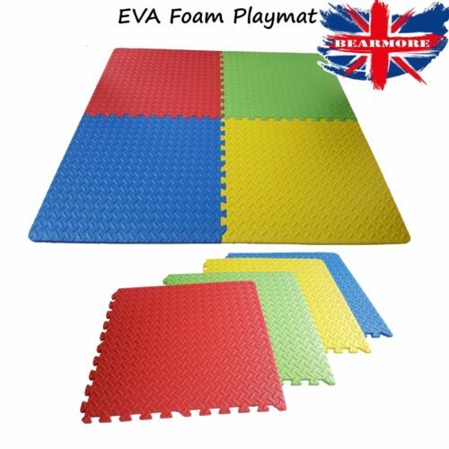 Interlocking Large Eva Soft Foam Exercise Floor Mats Kids Play Garage Gym Office