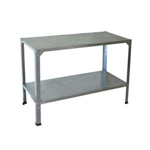 Image Is Loading Steel Work Bench Garage Storage Table Workshop Heavy