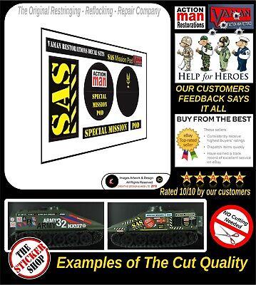 Action Man SAS Mission Pod Stickers Decals Die Cut