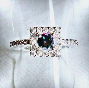 Edler-Regenbogen-Topas-Zirkonia-Designer-Ring-925-Silber-rhodiniert-17-2-mm