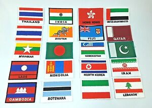 Image Is Loading Nation Flag Continent Asia Africa Sew On Patch